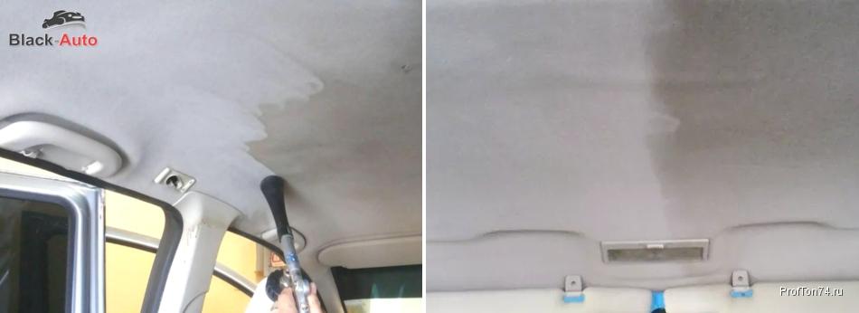 Чистка потолка автомобиля в Челябинске